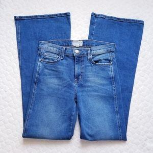 Current Elliott flare jeans medium wash denim 27